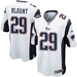 New England Patriots LeGarrette Blount Official Nike White Game Adult Road NFL Jersey