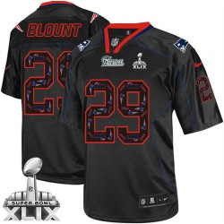 New England Patriots LeGarrette Blount Official Nike New Lights Out Black Elite Adult Super Bowl XLIX NFL Jersey