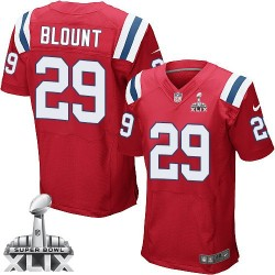 New England Patriots LeGarrette Blount Official Nike Red Elite Adult Alternate Super Bowl XLIX NFL Jersey