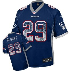 New England Patriots LeGarrette Blount Official Nike Navy Blue Limited Adult Drift Fashion NFL Jersey