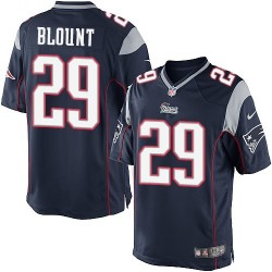 New England Patriots LeGarrette Blount Official Nike Navy Blue Limited Adult Home NFL Jersey