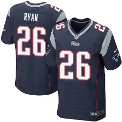 New England Patriots Logan Ryan Official Nike Navy Blue Elite Adult Home NFL Jersey