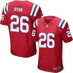 New England Patriots Logan Ryan Official Nike Red Elite Adult Alternate NFL Jersey