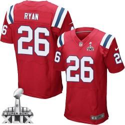 New England Patriots Logan Ryan Official Nike Red Elite Adult Alternate Super Bowl XLIX NFL Jersey