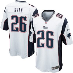 New England Patriots Logan Ryan Official Nike White Game Adult Road NFL Jersey