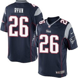 New England Patriots Logan Ryan Official Nike Navy Blue Limited Adult Home NFL Jersey