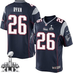 New England Patriots Logan Ryan Official Nike Navy Blue Limited Adult Home Super Bowl XLIX NFL Jersey
