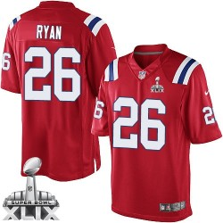 New England Patriots Logan Ryan Official Nike Red Limited Adult Alternate Super Bowl XLIX NFL Jersey
