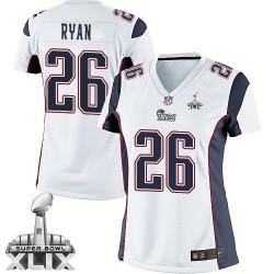 New England Patriots Logan Ryan Official Nike White Elite Women's Road Super Bowl XLIX NFL Jersey