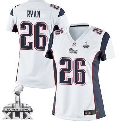 New England Patriots Logan Ryan Official Nike White Limited Women's Road Super Bowl XLIX NFL Jersey