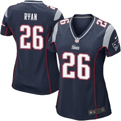 New England Patriots Logan Ryan Official Nike Navy Blue Game Women's Home NFL Jersey