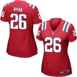 New England Patriots Logan Ryan Official Nike Red Game Women's Alternate NFL Jersey