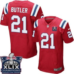 New England Patriots Malcolm Butler Official Nike Red Elite Adult Alternate Super Bowl XLIX Champions NFL Jersey