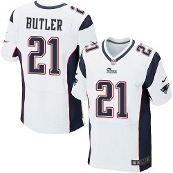 New England Patriots Malcolm Butler Official Nike White Elite Adult Road NFL Jersey