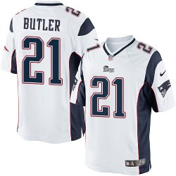 New England Patriots Malcolm Butler Official Nike White Limited Adult Road NFL Jersey