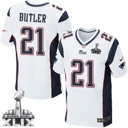 New England Patriots Malcolm Butler Official Nike White Elite Adult Road Super Bowl XLIX NFL Jersey