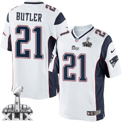 New England Patriots Malcolm Butler Official Nike White Limited Adult Road Super Bowl XLIX NFL Jersey