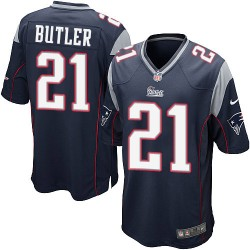 New England Patriots Malcolm Butler Official Nike Navy Blue Game Adult Home NFL Jersey