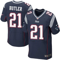 New England Patriots Malcolm Butler Official Nike Navy Blue Elite Adult Home NFL Jersey