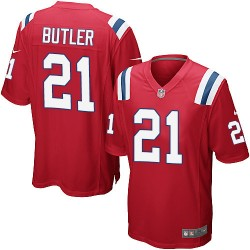 New England Patriots Malcolm Butler Official Nike Red Game Adult Alternate NFL Jersey