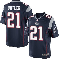 New England Patriots Malcolm Butler Official Nike Navy Blue Limited Adult Home NFL Jersey