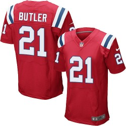 New England Patriots Malcolm Butler Official Nike Red Elite Adult Alternate NFL Jersey