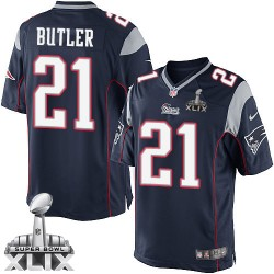 New England Patriots Malcolm Butler Official Nike Navy Blue Limited Adult Home Super Bowl XLIX NFL Jersey