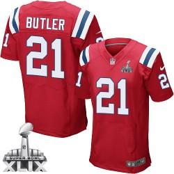 New England Patriots Malcolm Butler Official Nike Red Elite Adult Alternate Super Bowl XLIX NFL Jersey