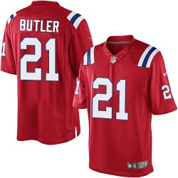 New England Patriots Malcolm Butler Official Nike Red Limited Adult Alternate NFL Jersey