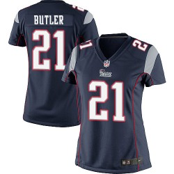 New England Patriots Malcolm Butler Official Nike Navy Blue Elite Women's Home NFL Jersey