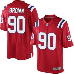 New England Patriots Malcom Brown Official Nike Red Elite Youth Alternate NFL Jersey