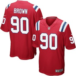 New England Patriots Malcom Brown Official Nike Red Game Youth Alternate NFL Jersey
