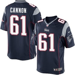New England Patriots Marcus Cannon Official Nike Navy Blue Limited Adult Home NFL Jersey