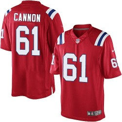 New England Patriots Marcus Cannon Official Nike Red Limited Adult Alternate NFL Jersey