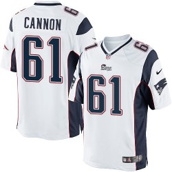 New England Patriots Marcus Cannon Official Nike White Limited Adult Road NFL Jersey