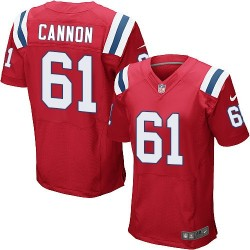 New England Patriots Marcus Cannon Official Nike Red Elite Adult Alternate NFL Jersey