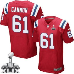 New England Patriots Marcus Cannon Official Nike Red Elite Adult Alternate Super Bowl XLIX NFL Jersey