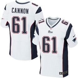 New England Patriots Marcus Cannon Official Nike White Elite Adult Road NFL Jersey