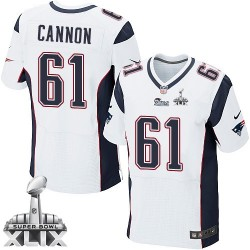 New England Patriots Marcus Cannon Official Nike White Elite Adult Road Super Bowl XLIX NFL Jersey