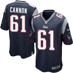 New England Patriots Marcus Cannon Official Nike Navy Blue Game Adult Home NFL Jersey