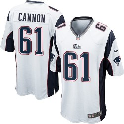 New England Patriots Marcus Cannon Official Nike White Game Adult Road NFL Jersey