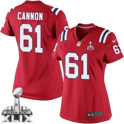 New England Patriots Marcus Cannon Official Nike Red Elite Women's Alternate Super Bowl XLIX NFL Jersey