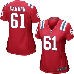 New England Patriots Marcus Cannon Official Nike Red Game Women's Alternate NFL Jersey