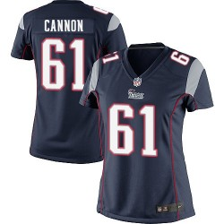 New England Patriots Marcus Cannon Official Nike Navy Blue Limited Women's Home NFL Jersey
