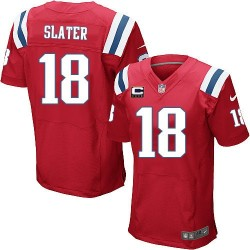 New England Patriots Matthew Slater Official Nike Red Elite Adult Alternate C Patch NFL Jersey