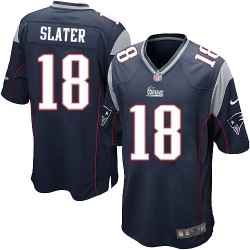 New England Patriots Matthew Slater Official Nike Navy Blue Game Adult Home NFL Jersey