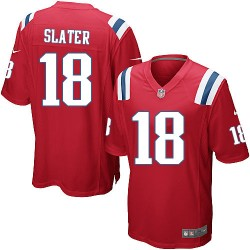 New England Patriots Matthew Slater Official Nike Red Game Adult Alternate NFL Jersey