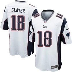 New England Patriots Matthew Slater Official Nike White Game Adult Road NFL Jersey