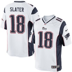 New England Patriots Matthew Slater Official Nike White Limited Adult Road NFL Jersey
