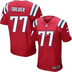 New England Patriots Nate Solder Official Nike Red Elite Adult Alternate NFL Jersey